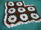 Crocheted Granny Square Childs Poncho