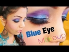 SEXY GLAMOROUS glittery COBLET BLUE AND PURPLE EYE MAKEUP FOR EID TUTORIAL