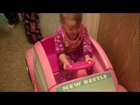 Ashlynn learning to drive her car
