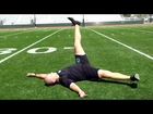 Dryland Hockey Training for Flexibility-1 Leg Lowering