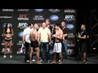 UFC 148 competitors Riki Fukuda and Constantinous Philippou weigh in prior to their bout