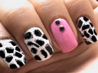 Giraffe Nail Art tutorial Animal Nails Art designs beginners cute nail polish ideas Short/long nails