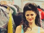 A Pompadour Hairstyle Backstage at Nicole Richie's Macy's Collection