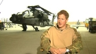 Prince Harry in Afghanistan: Talks about his weekends off